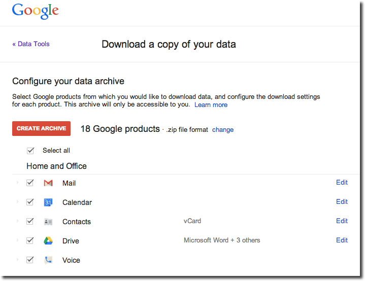 How to make a full backup of your Google stuff
