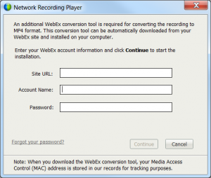 The nightmare of converting a Webex ARF recording to MP4