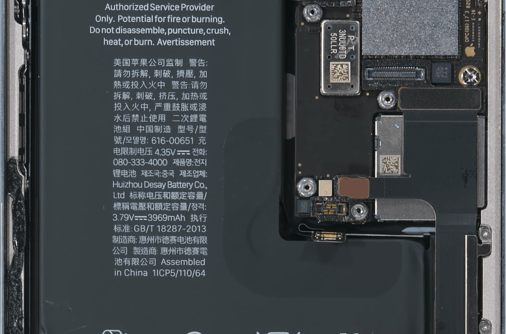 iPhone 11 Pro Max internals wallpaper