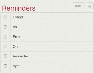 Reminders can't be shared on iOS 6